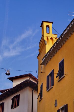 turret: Turret on a street of the ancient center of Pistoia Stock Photo
