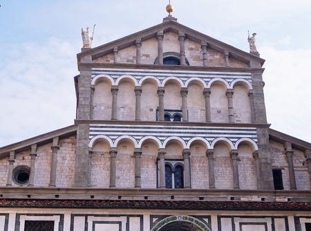 sain: Detail of the Cathedral of Sain Zeno, Pistoia, Italy