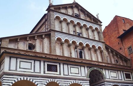 sain: Facade of the Cathedral of Sain Zeno, Pistoia, Italy Editorial