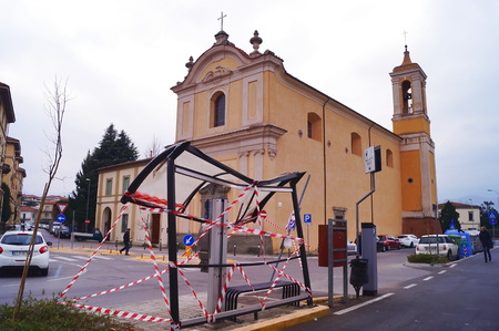 madonna: Madonna Del Carmine church, Pistoia, Italy Editorial