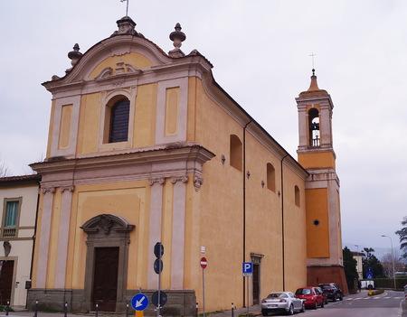 carmine: Madonna Del Carmine church, Pistoia, Italy Editorial