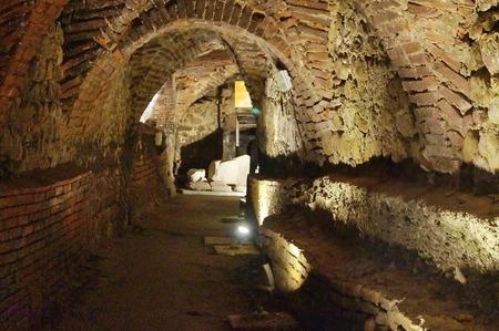 Underground of the ancient Ceppo hospital, Pistoia, Italy