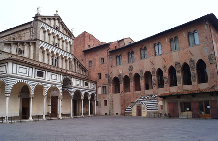 sain: Cathedral of Sain Zeno and Old Bishops Palace, Pistoia, Italy