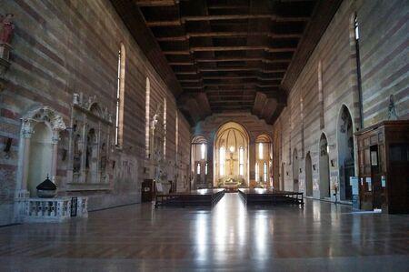hermits: Interior of Eremitani Basilica, Padua, Italy