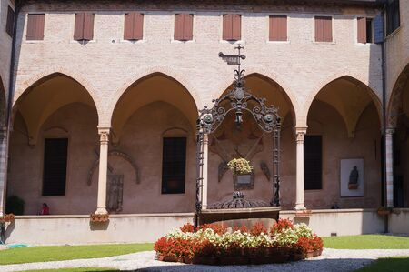 courtyard: Courtyard of Basilica del Santo, Padua, Italy