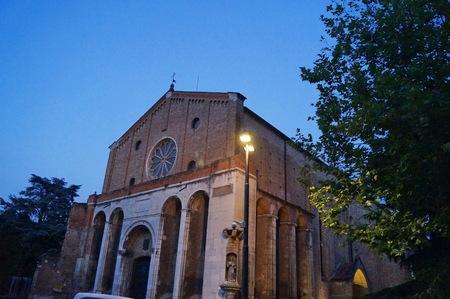 hermits: Church of the Erremitani at night, Padua, Italy Stock Photo