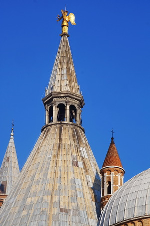 santo: Detail of Basilica del Santo, Padua, Italy Stock Photo
