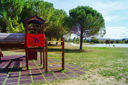 slipway: Serravalle park, Empoli, Tuscany, Italy