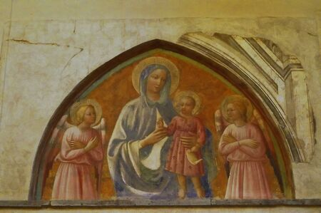 italian fresco: Interior of Saint Stephen church, Empoli, Tuscany, Italy Editorial