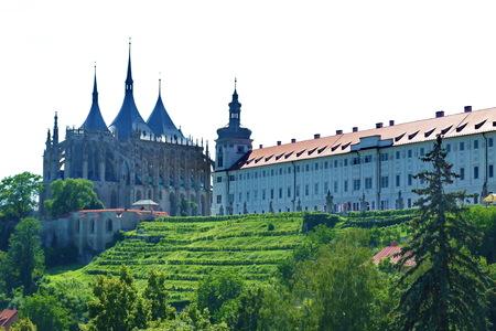 jesuit: Saint Barbara church and Jesuit College, Kutna Hora, Czech republic