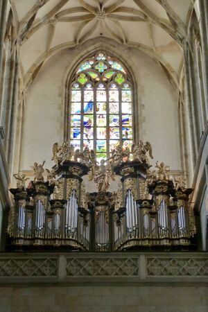 christian altar: Interior of Saint Barbara church, Kutna Hora, Czech republic