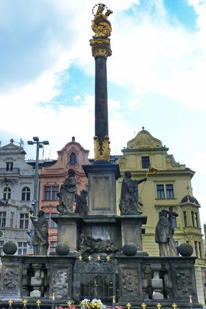 plague: Plague column in Pilsen, Czech Republic