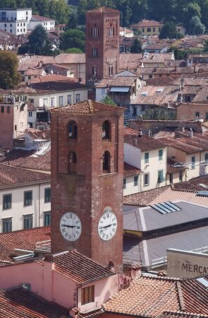 lucca: Aerial view of Lucca, Tuscany, Italy
