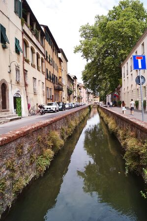 ditch: Ditch Street, Lucca, Tuscany, Italy Stock Photo