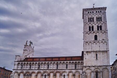 or san michele: Church of San Michele in Foro, Lucca, Tuscany, Italy