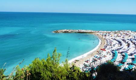 sun bathers: Numana beach, Marche, Italy