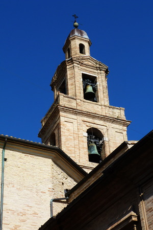 recanati: Bell tower of the Cathedral of Recanati, Marche, Italy