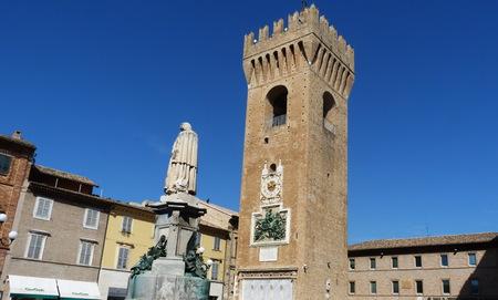 recanati: Civic Tower, Recanati, Marche, Italy Editorial