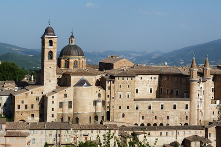 urbino: View of center of Urbino, Marche, Italy Editorial