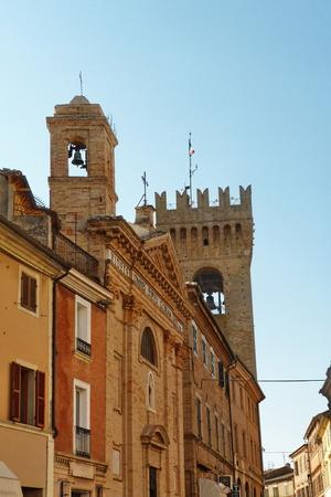 recanati: Street of Recanati, Marche, Italy Editorial