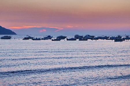 elba: Sunset in the Bay of Procchio, Elba island, Tuscany, Italy