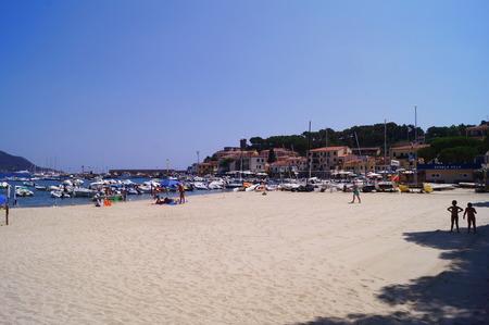 bather: Marina di Campo beach, Elba Island, Tuscany, Italy