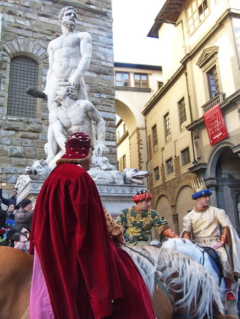 epiphany: Cavalcade of the Magi, traditional Florentine feast of the Epiphany. Italy