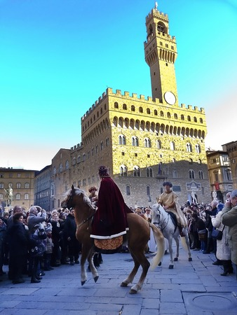 the magi: Cavalcade of the Magi, traditional Florentine feast of the Epiphany. Italy
