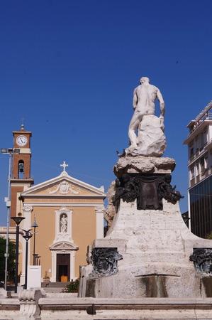toskana: Guerrazzi square, Cecina, Tuscany, Italy