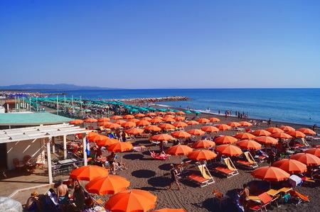 Marina di Cecina beach, Tuscany, Italy Stock Photo