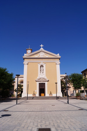 leopold: Church of Saints Joseph and Leopold, Marina di Cecina, Tuscany, Italy Stock Photo