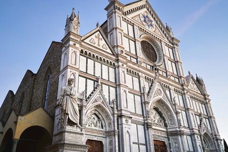 dante alighieri: Statue of Dante Alighieri, in Santa Croce square, Florence, Italy