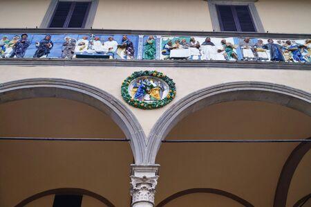 friso: Portal frieze of the Ospedale del Ceppo, Pistoia, Italy