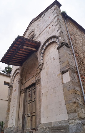desecrated: Ancient church of San Salvatore, Pistoia, Tuscany; Italy