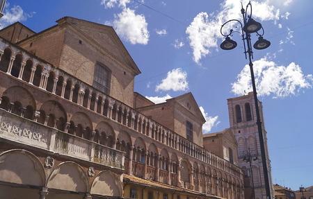 ferrara: Cathedral of Ferrara, Italy Stock Photo
