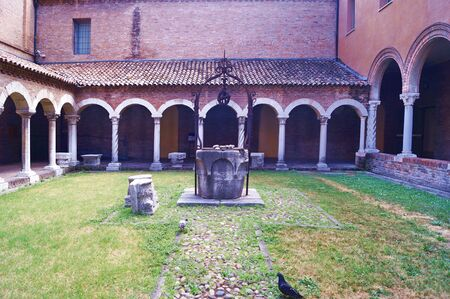 12th century: Cloister of San Romano in the cathedral museum of Ferrara, Italy