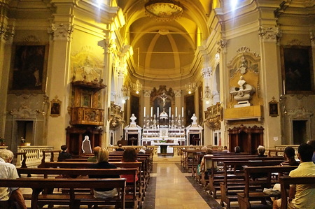 Interior of Santa Maria in Vado basilica, Ferrara, Italy