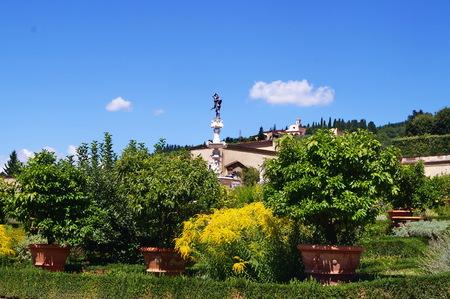 Italian garden of the Royal Villa of Castello, Florence, Italy Editorial