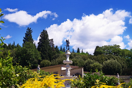 Italian garden of the Royal Villa of Castello, Florence, Italy Stock Photo