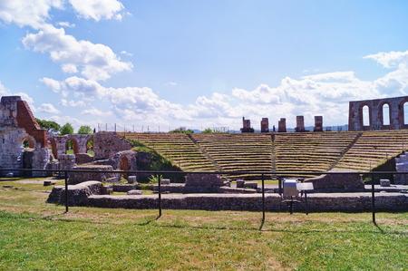 Roman theater, Gubbio, Umbria, Italy