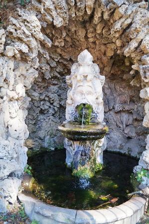 Fountain in Parterre park, Livorno, Tuscany, Italy