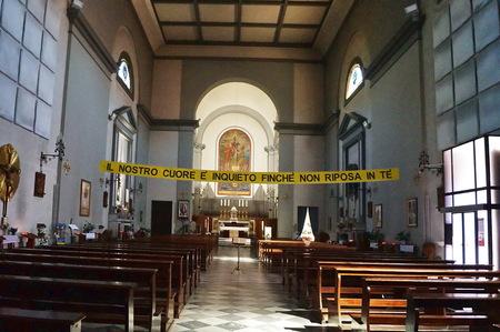 livorno: Interior of Saint Andrew church, Livorno, Tuscany, Italy Editorial
