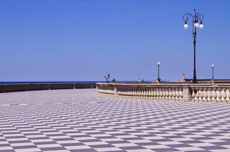 livorno: Terrace Mascagni, Livorno, Tuscany, Italy Stock Photo