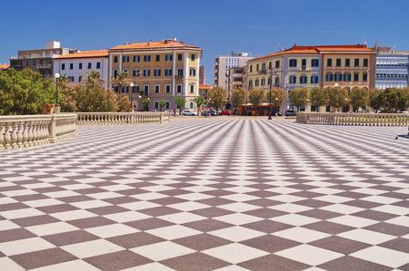 Terrace Mascagni, Livorno, Tuscany, Italy 版權商用圖片