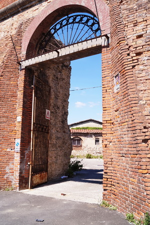 livorno: Abandoned buildings of the old dock, Livorno, Tuscany, Italy Editorial