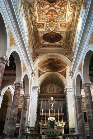 Interior of San Miniato cathedral, Tuscany, Italy