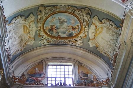 Interior of the Church of the Holy Crucifix, San Miniato, Tuscany, Italy