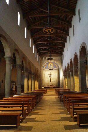 Interior of San Lorenzo church, Borgo San Lorenzo, Tuscany, Italy