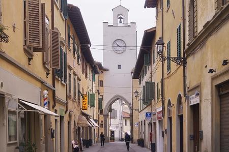Clock Tower, Borgo San Lorenzo, Tuscany, Italy Editorial