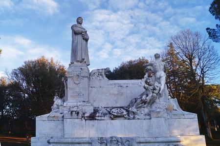 Monument to Francesco Petrarca at the Prato, Arezzo, Tuscany, Italy